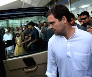 Rahul Gandhi at Lucknow Airport