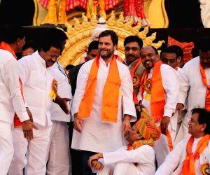 Rahul Gandhi at Valmiki Jayanti Shobha Yatra