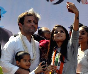 Rahul Gandhi at a public meeting