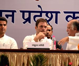 Rahul Gandhi during a party meeting