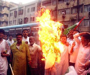 Congress demonstration against Vijay Goel