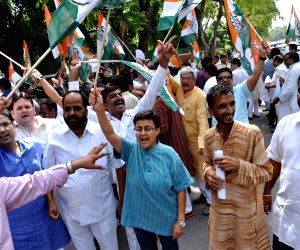 Congress demonstration against Rail budget 2014-15