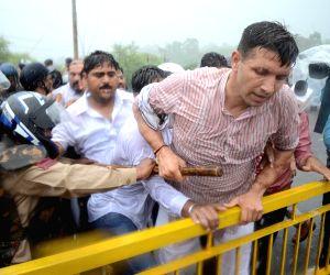 Congress demonstration against MP govt