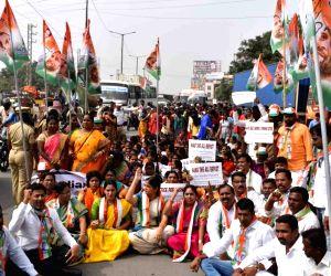 Congress' protest against Hyderabad gang rape-murder