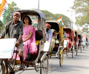 Congress' cycle-rickshaw rally