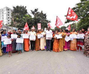CPI(M) activists protest