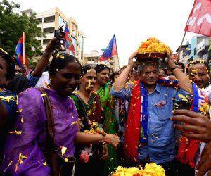 Sitaram Yechury during 'Bonalu' celebrations