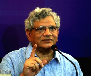 Sitaram Yechury during interactive session
