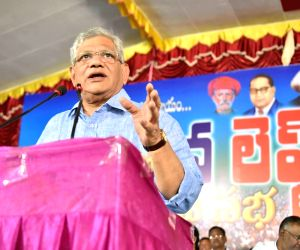 Sitaram Yechury during a meeting