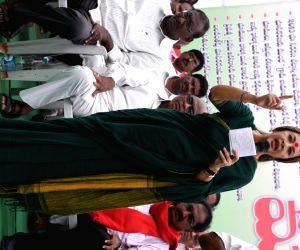 Brinda Karat demonstration against the Telangana government