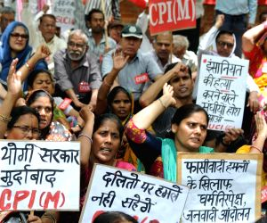CPI-M demonstration against Saharanpur violence