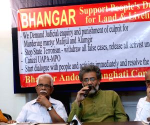 Press Conference against WB Govt's repression in Bhangar