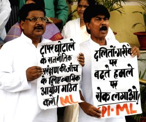 CPI-ML demonstration at Bihar Assembly