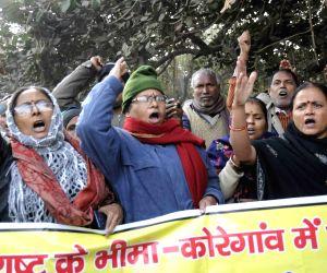 CPI-ML demonstration  against Bhima-Koregaon violence