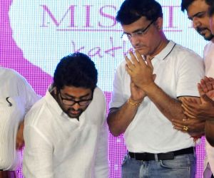 Sourav Ganguly, Arijit Singh during a promotional programme