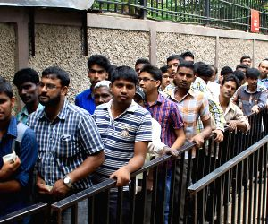 Cricket fans queue-up to buy IPL tickets