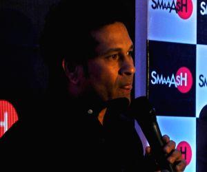 Sachin Tendulkar at launch of  SMAAASH Delhi