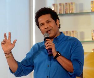 Mumbai: Sachin Tendulkar during a promotional programme