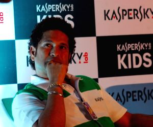 Sachin Tendulkar during launch of 'Kaspersky Kids