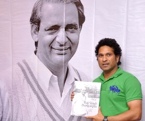 Sachin launches book Raj Singh Dungarpur - A Tribute