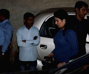 "Cricketer Sachin Tendulkar's wife Anjali Tendulkar during the special screening of upcoming film ""Secret Superstar"" in Mumbai on Oct 16, 2017."