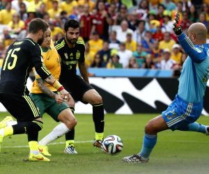 Brazil (Curitiba): FIFA World Cup 2014 Group B match Australia vs Spain.