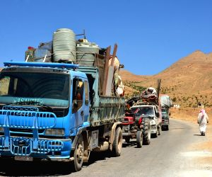 SYRIA QALAMOUN REFUGEES LEBANON RETURNING