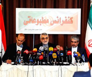 SYRIA-DAMASCUS-IRAN-PRESS CONFERENCE