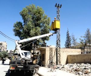 SYRIA-EASTERN GHOUTA-ELECTRICITY-REHABILITATION