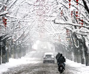 CHINA LIAONING DANDONG SNOW