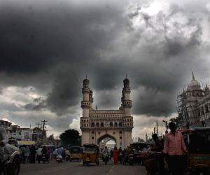 Dark clouds loom over Charminar