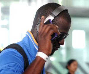 Team West Indies at Kolkata airport
