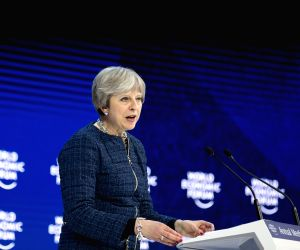 SWITZERLAND DAVOS WEF ANNUAL MEETING BRITAIN THERESA MAY