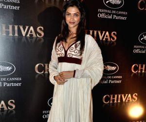 Deepika at Chivas-Cannes red carpet media meet in Grand Hyatt, Mumbai on Wednesday Evening.