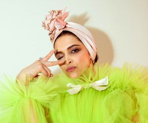 Deepika Padukone chooses a quirky lime green gown at Cannes Film Festival..