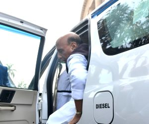 Budget Session - Rajnath Singh arrives at Parliament