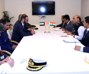 Rajnath Singh meets UAE's Minister of State for Defence