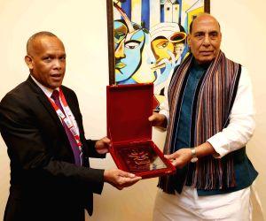 Rajnath Singh meets Madagascar Defence Minister
