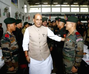 Rajnath Singh meets Indian Army soldiers, officers at Central Command