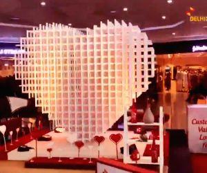 Delhi airport celebrates Valentine's Day in style