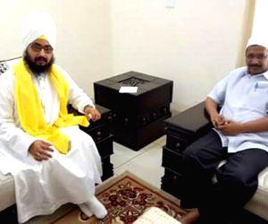Kejriwal meets Sant Ranjit Singh Dhadrianwale
