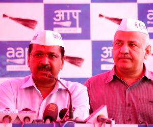 Delhi Chief Minister Arvind Kejriwal and Deputy Chief Minister Manish Sisodia. (Photo: IANS)