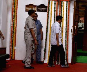 Arvind Kejriwal arrives at Delhi Assembly
