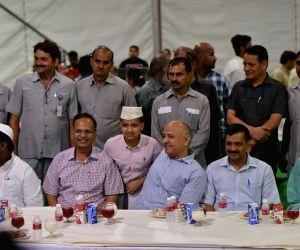 Kejriwal during an iftaar party