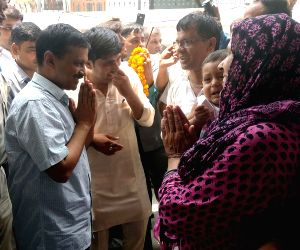 Kejriwal inspects development work at Kirari