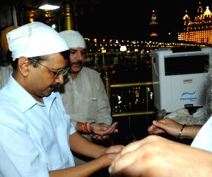Delhi CM Kejriwal at Golden Temple