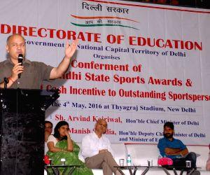 Manish Sisodia distributes Rajiv Gandhi State Sports Awards