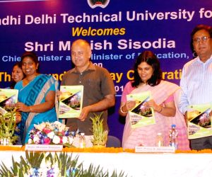Manish Sisodia inaugurates the Incubation Centre at IGDTUW