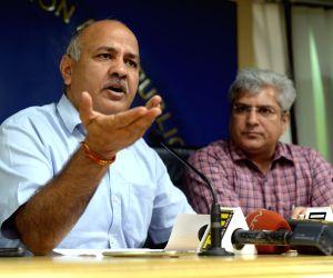 Manish Sisodias' press conference
