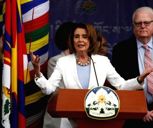 Nancy Pelosi meets Dalai Lama at Tsugla Khang temple